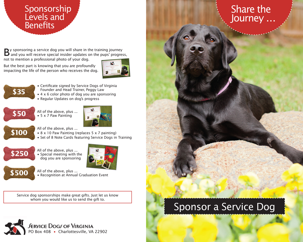 Service Dogs of Virginia Brochure ~ 1
