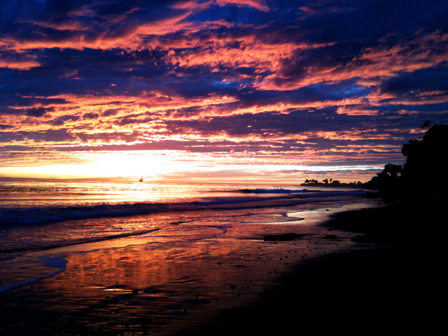 Sunset in Goleta, California