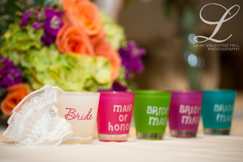 bride and bridal party shot glasses