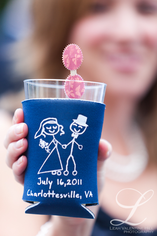 personalized koozie wedding favors