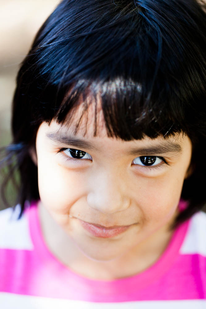 close up of hispanic girl in santa ana, ca