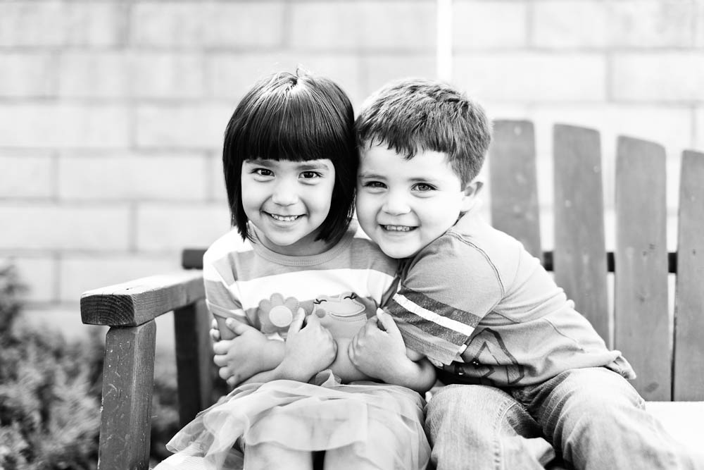 portrait of young hispanic siblings in santa ana, ca