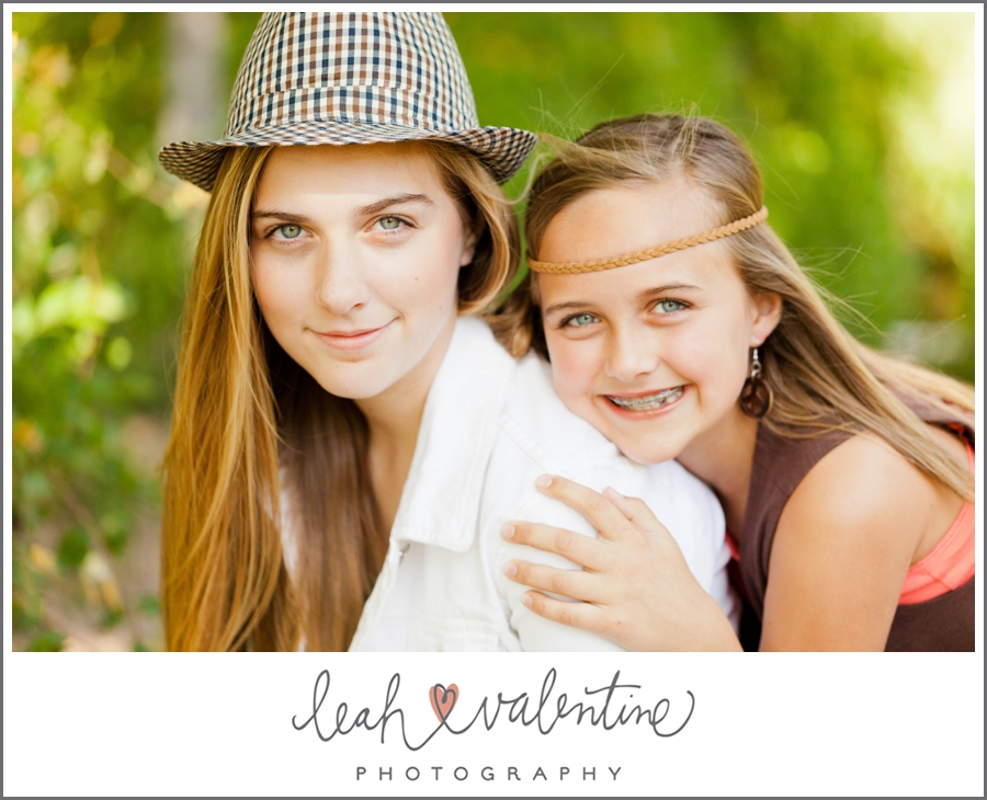 beauty portrait of sisters at wildwood park in west little rock, ar