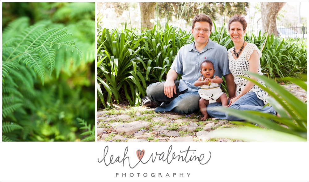 family portraits sitting on a stone path at alice keck park in santa barbara ca