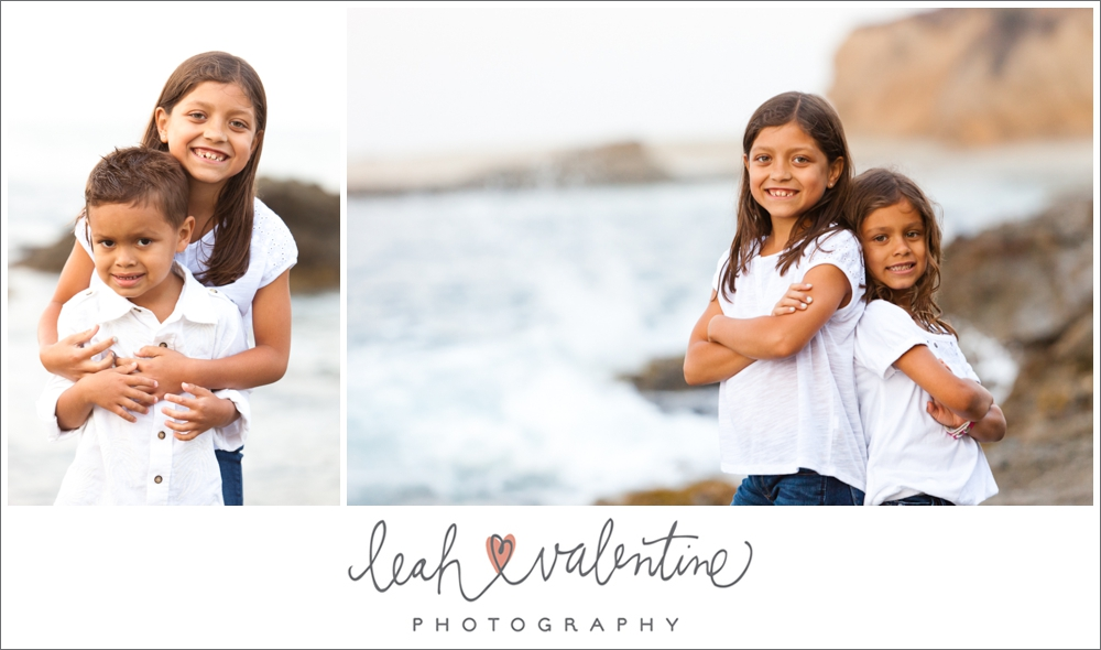 children portraits on Aliso beach at laguna beach, ca with the ocean in the background