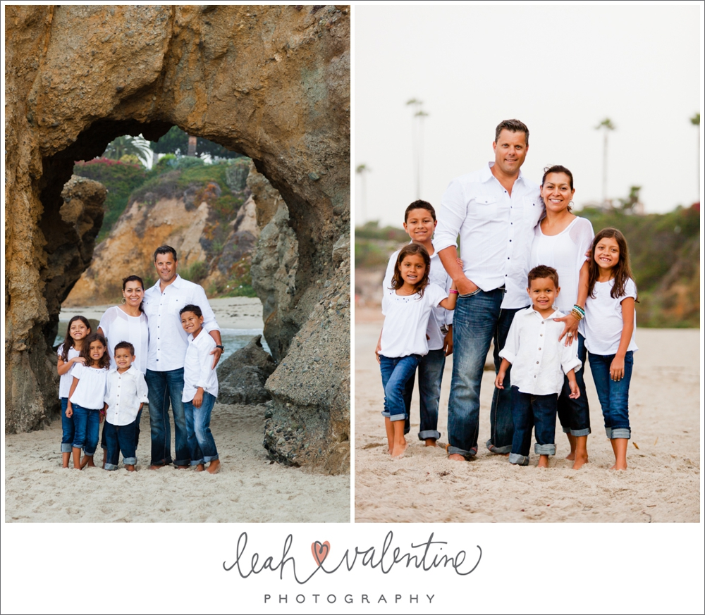 family portraits in the sand on Aliso Beach in Laguna Beach ca