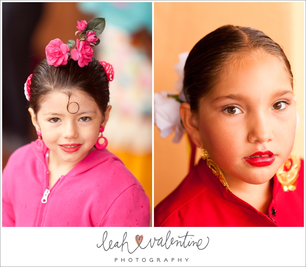girls fiesta style hair and make up at old spanish days fiesta in santa barbara ca