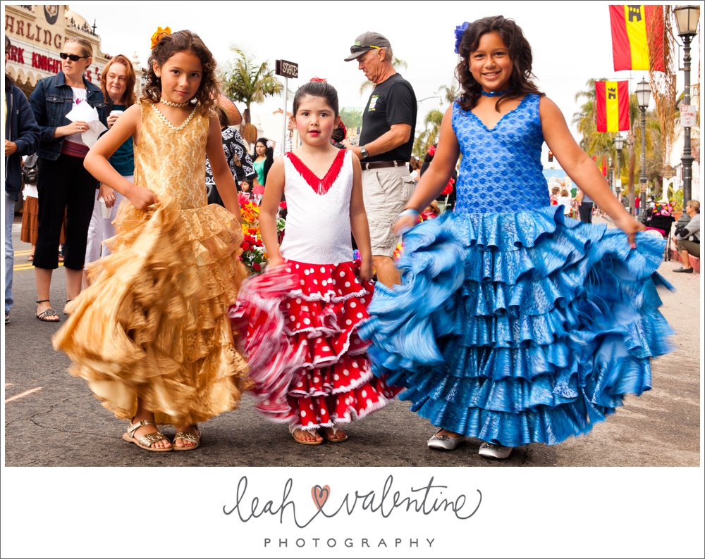 Spanish Fiesta girls shaking their skirts in Santa Barbara, ca