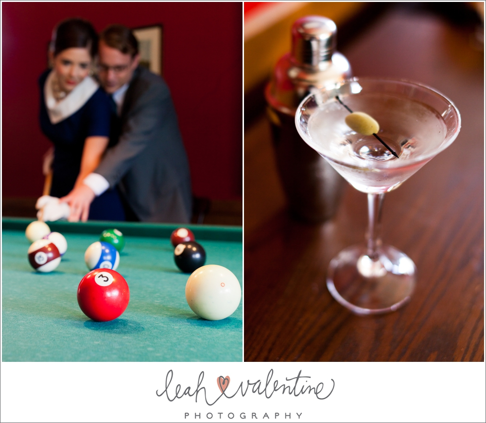 cocktails and pool engagement portraits at the university club of santa barbara