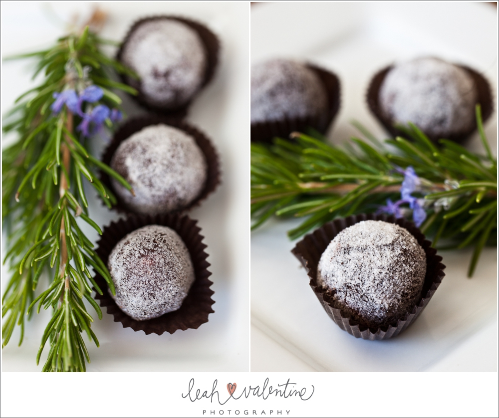 Jessica Foster Confections Dark Chocolate Rosemary Truffles