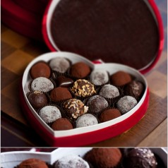 small Valentine's Day truffle box from Jessica Foster Confections