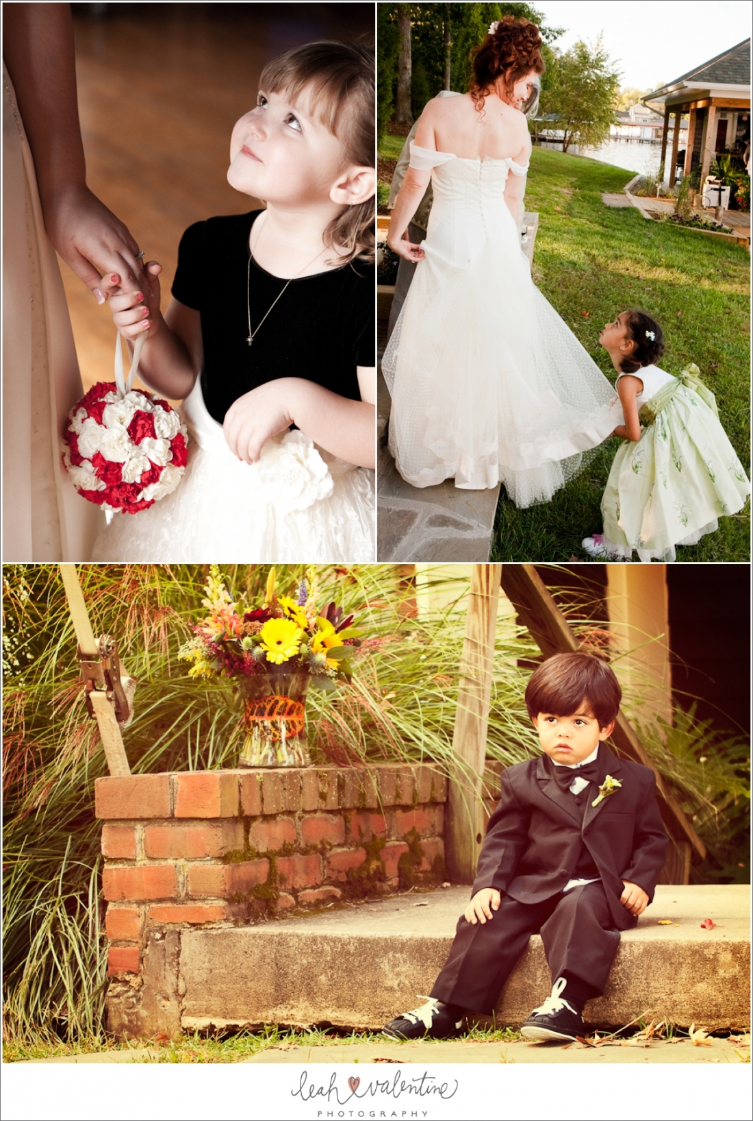 Flower girl and ring bearer portraits featured on SnapKnot