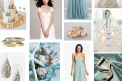 seascape wedding theme collage featuring Nordstrom products and photos by Leah Valentine