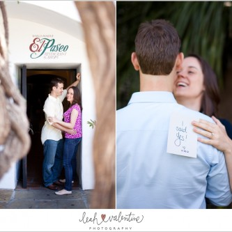 Santa Barbara engagement portraits by El Paseo restuarant