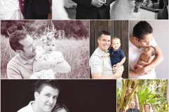 Fathers Day collage by Leah Valentine Photography